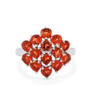 4.15ct Rajasthan Garnet Sterling Silver Ring