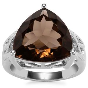 Smokey Quartz Ring in Sterling Silver 11cts