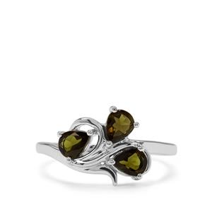 0.81ct Chrome Tourmaline Sterling Silver Ring