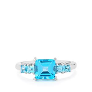 2.62ct Swiss Blue Topaz Sterling Silver Ring