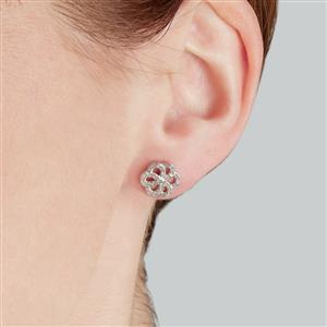 1/3ct Diamond Sterling Silver Earrings