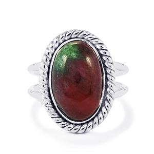 Ruby-Zoisite Ring in Sterling Silver 8.50cts
