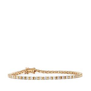Diamond Bracelet in 10K Gold 2.80cts