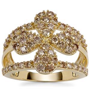 Argyle Diamond Ring in 9k Gold 1.50ct