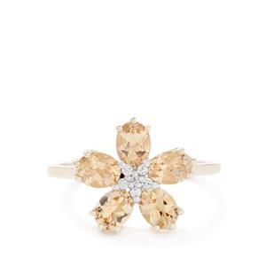 Ouro Preto Imperial Topaz & White Zircon 9K Gold Ring ATGW 1.85cts