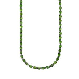32.56ct Chrome Diopside Sterling Silver Necklace