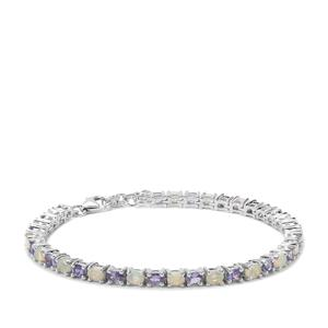 Tanzanite Bracelet with Ethiopian Opal in Sterling Silver 5.25cts