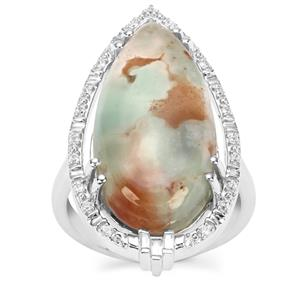 Aquaprase™ Ring with White Zircon in Sterling Silver 11.49cts