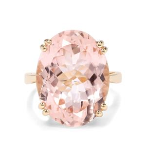 21ct Galileia Topaz 9K Gold Ring