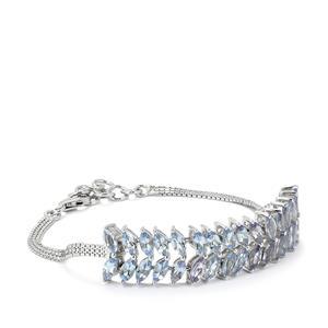 8.08ct Bi Colour Tanzanite Sterling Silver Bracelet