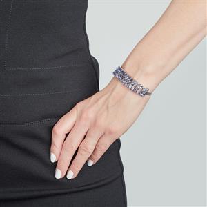 Bi Color Tanzanite Bracelet in Sterling Silver 8.08cts