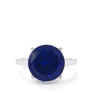 5.80ct Sar-i-Sang Lapis Lazuli Sterling Silver Ring