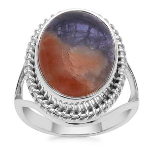 Iolite Sunstone Ring in Sterling Silver 9cts