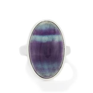 23.54ct Argentine Rainbow Fluorite Sterling Silver Aryonna Ring