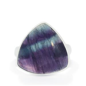 18.72ct Argentine Rainbow Fluorite Sterling Silver Aryonna Ring