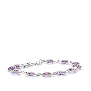 Rose De France Amethyst Bracelet  in Sterling Silver 16.2cts