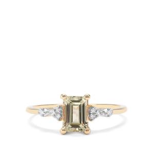 Csarite® & Diamond 9K Gold Ring ATGW 1.22cts
