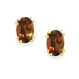 0.85ct Gouveia Andalusite 10K Gold Earrings