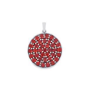Mozambique Garnet Pendant in Sterling Silver 8.54cts