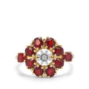 Songea Ruby & Diamond 9K Gold Ring ATGW 2.15cts