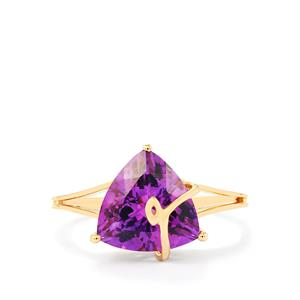 Moroccan Amethyst Ring in 10k Gold 2.81cts