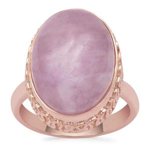 Kunzite Ring in Rose Gold Plated Sterling Silver 14.35cts