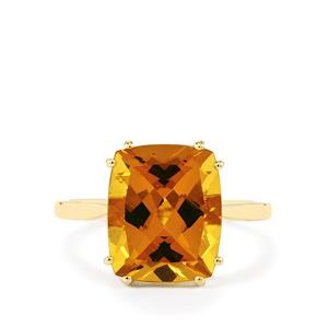 4.78ct Xia Heliodor 9K Gold Ring
