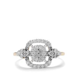 Certified Argyle Diamond Ring in 9K Gold 0.50ct