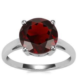 Rajasthan Garnet Ring in Sterling Silver 4cts