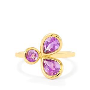 Rose du Maroc Amethyst Ring in 9K Gold 1.43cts