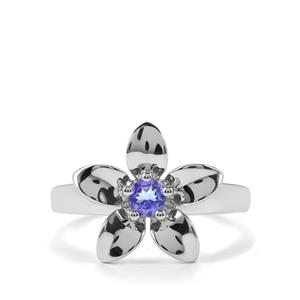 0.28ct AA Tanzanite Sterling Silver Ring