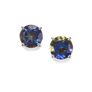 Mystic Blue Topaz Earrings in Sterling Silver 3.05cts