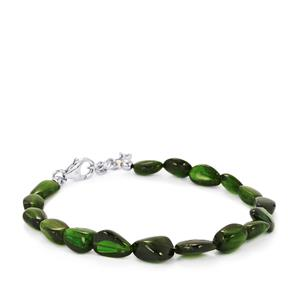 Chrome Diopside Nugget Bracelet in Sterling Silver 43.58cts