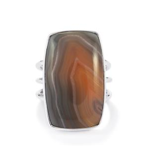 16.00ct Botswana Agate Sterling Silver Aryonna Ring