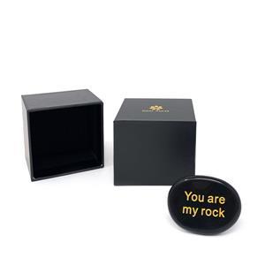 Gem Auras 'You are my rock' - Black Obsidian Gemstone - ATGW 65cts
