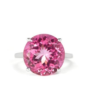 Pure Pink Topaz Ring in Sterling Silver 11.43cts
