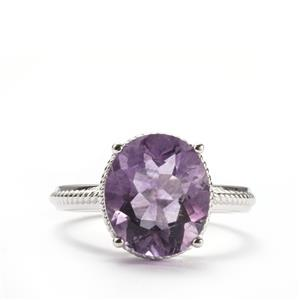Purple Fluorite Ring in Sterling Silver 5.72cts