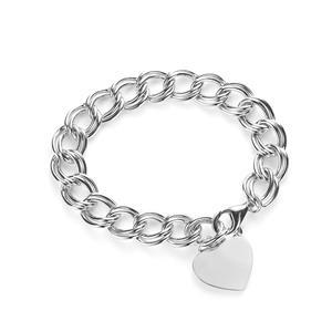 Heart Bracelet in Sterling Silver 26.70g