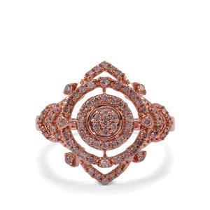 Pink Diamond Ring in 10K Rose Gold 0.51ct
