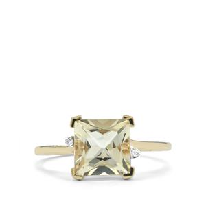 Serenite Ring with Diamond in 9K Gold 2.23cts
