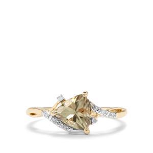 Csarite® & Diamond 10K Gold Ring ATGW 1.31cts