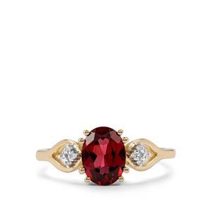 Mahenge Garnet & Diamond 9K Gold Ring ATGW 1.59cts
