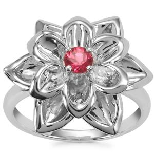Cruzeiro Rubellite Ring in Sterling Silver 0.25cts