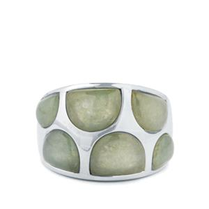 13.89cts Genuine Jade Sterling Silver Ring