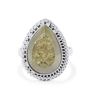 21ct Drusy Pyrite Sterling Silver Aryonna Ring