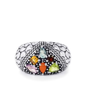 1.77ct Kaleidoscope Gemstones Sterling Silver Ring