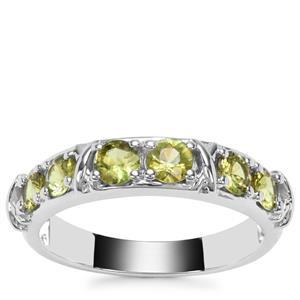 Ambanja Demantoid Garnet Ring in Sterling Silver 1.24cts