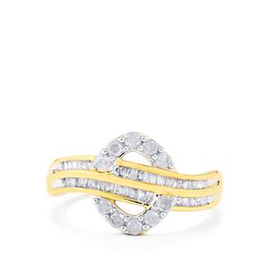 Diamond Ring in 10k Gold 0.51ct