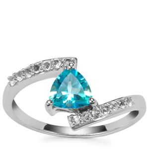 Batalha Topaz Ring with White Topaz in Sterling Silver 1.03cts