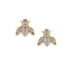 Bumblebee Earrings in 9K Gold